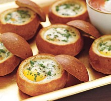 Algharbia farms baked eggs in bread loaf recipe