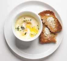 Algharbia farms baked eggs with cream and herbs recipe