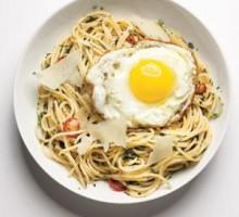 Algharbia farms egg spaghetti with herbs recipe